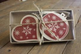 Set of Christmas decorations out of plywood