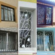 Wrought iron bars on the Windows
